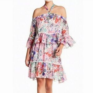 Rachel Roy off the shoulder tropical floral dress